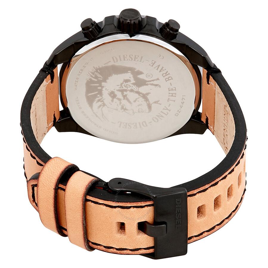 ae76e3169 Diesel MS9 Black Sunray Dial Chronograph Men's Watch DZ4471 - Diesel ...