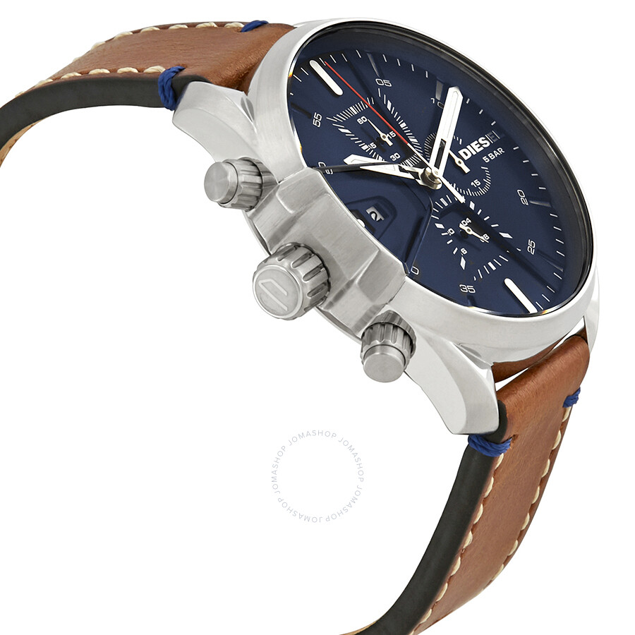f9faae84f Diesel MS9 Chronograph Blue Dial Men's Watch DZ4470 - Diesel ...