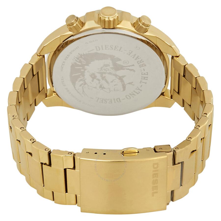 72382e08c ... Diesel MS9 Chronograph Quartz Gold Sunray Dial Men's Watch DZ4475