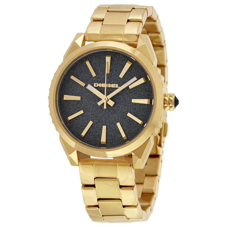 Diesel Nuki Light Brown Dial Gold Tone Stainless Steel Unisex Watch DZ5474  ... b05d402b6ee