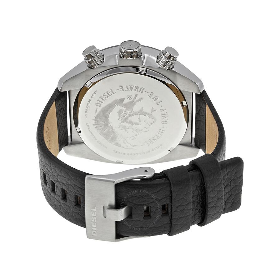 44b8d3a5901b ... Diesel Overflow Black Dial Black Leather Men s Quartz Watch DZ4341 ...