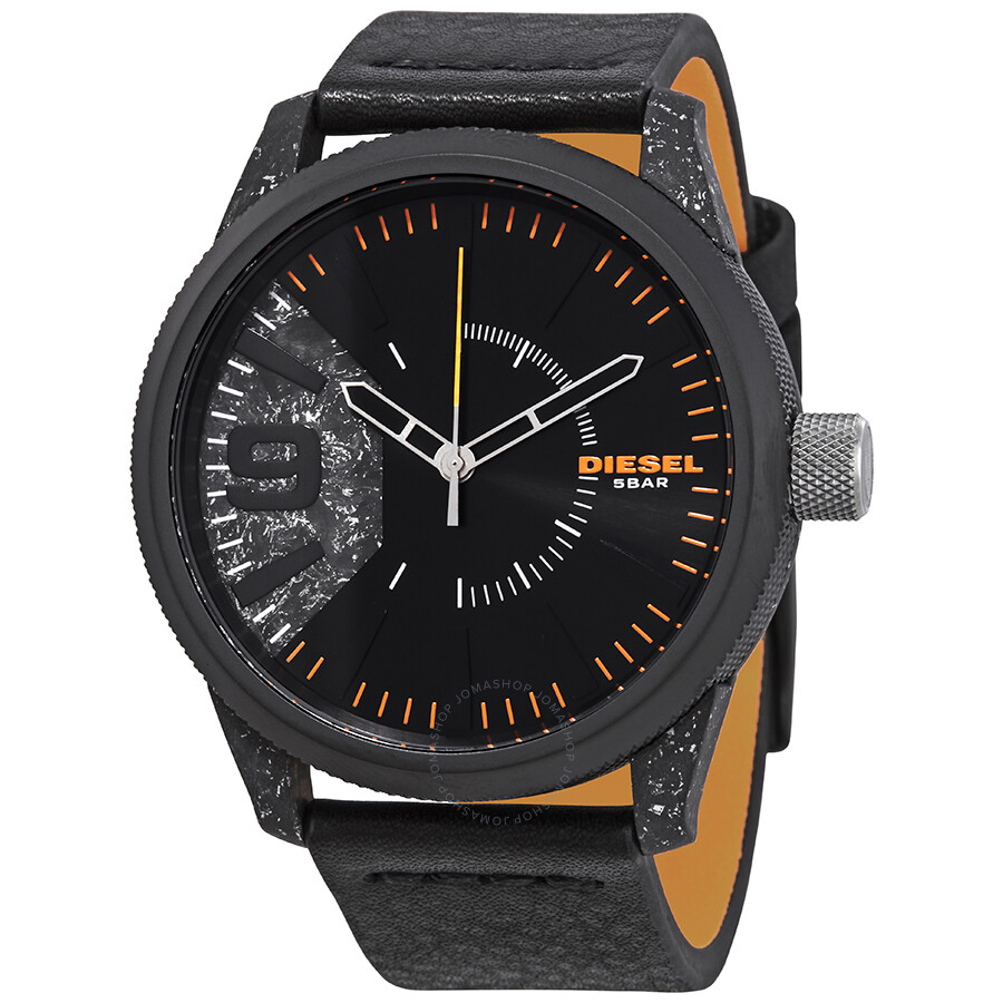 Diesel Rasp Black Sunray Dial Men's Watch DZ1845 ...