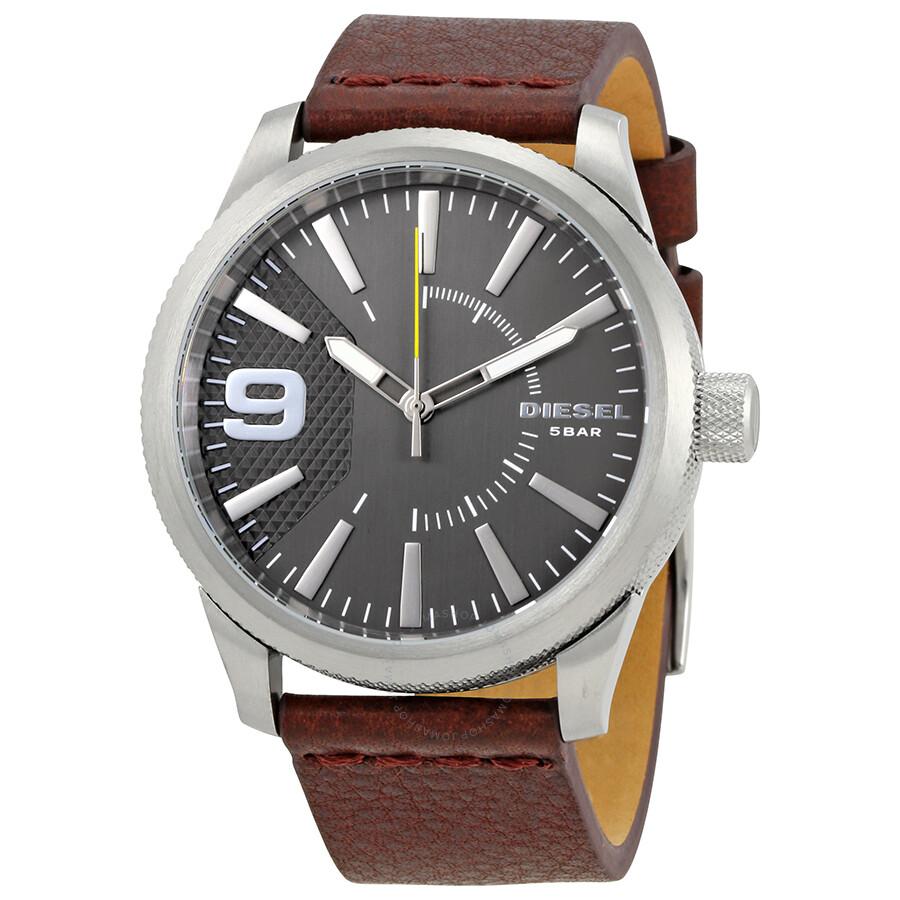 Diesel rasp silver dial men s watch dz1802
