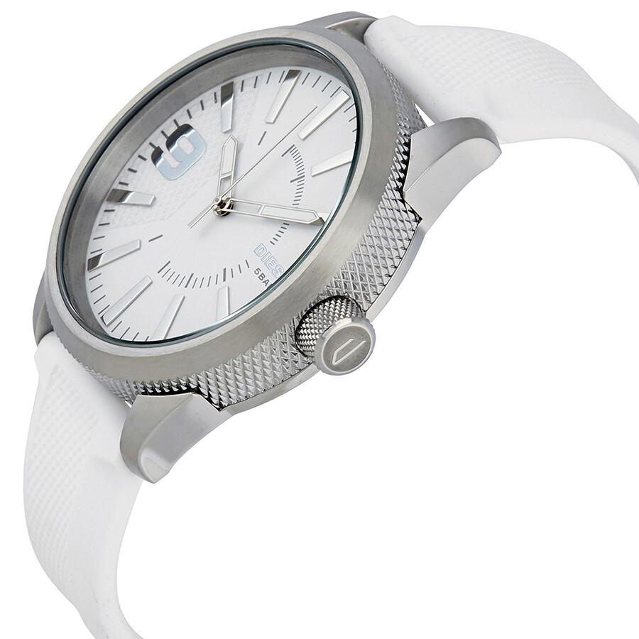 diesel rasp white dial men s rubber watch dz1805 diesel diesel rasp white dial men s rubber watch dz1805