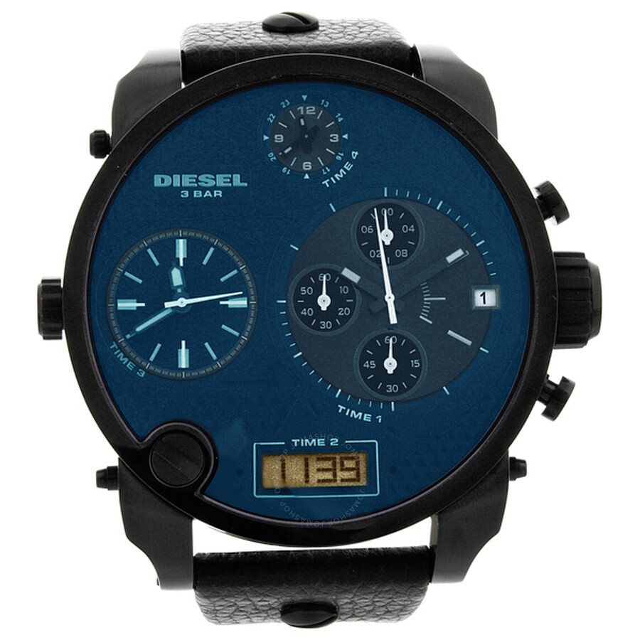 diesel sba chronograph blue black analog digital