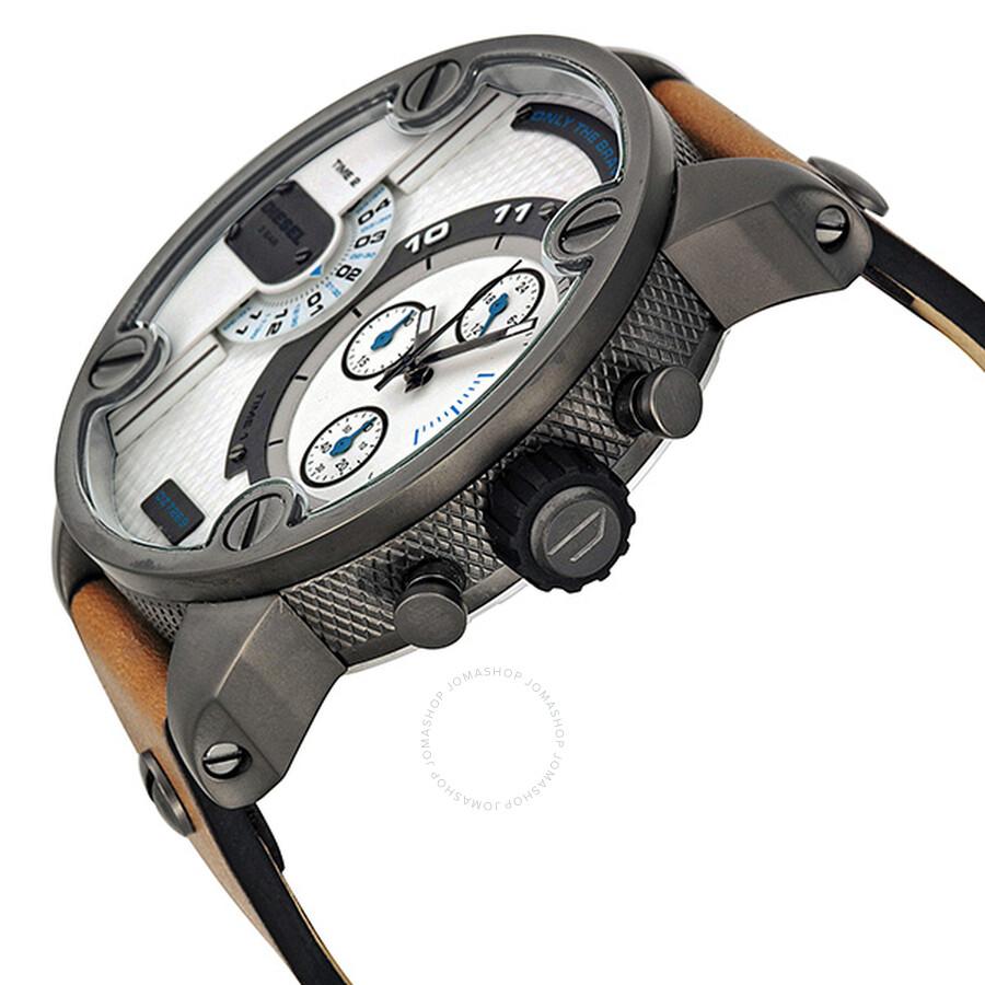 5ede3643f ... Diesel SBA Dual Time Chronograph Gunmetal IP Stainless Steel Men's Watch  DZ7269 ...