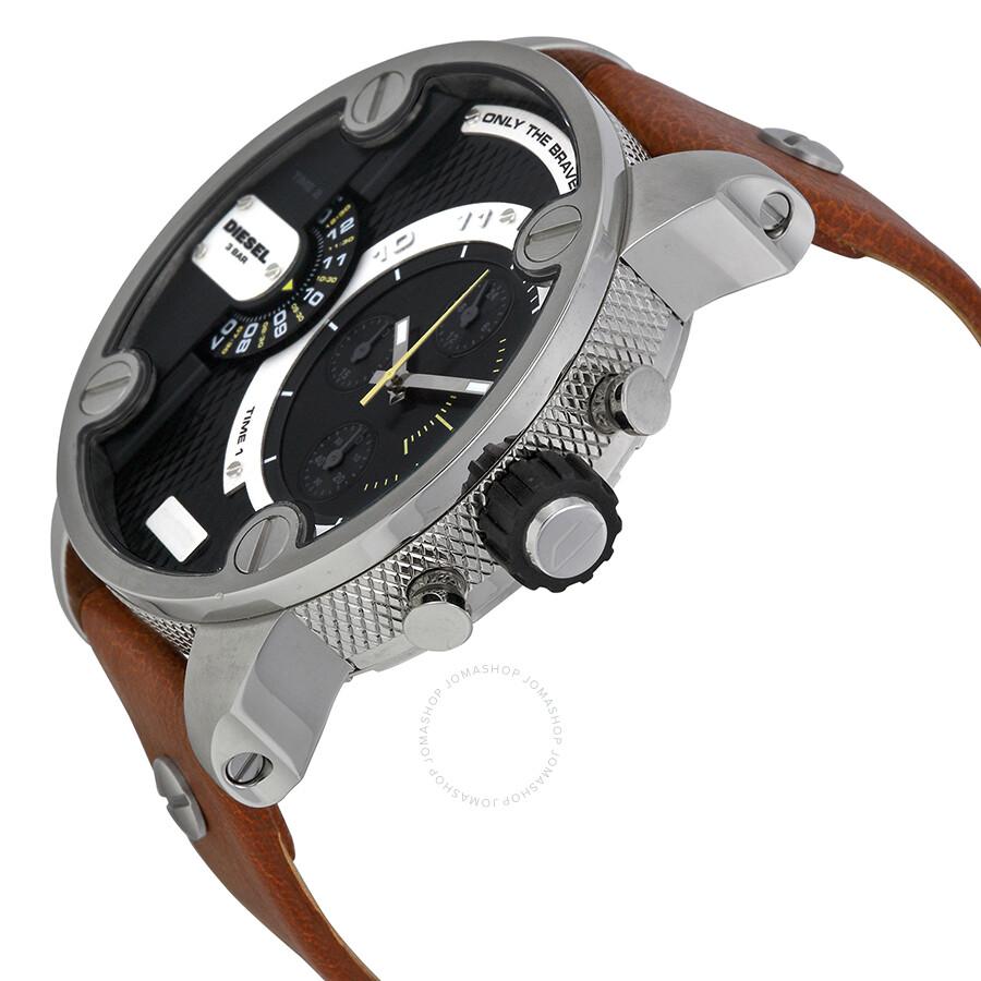 13892c839 ... Diesel SBA Dual Time Chronograph Stainless Steel Men's Watch DZ7264 ...