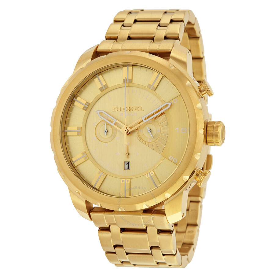 diesel stronghold gold tone s chronograph