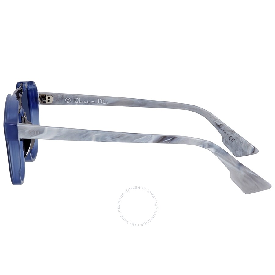 b21600f150ee5 ... Dior Abstract Blue Gradient Round Ladies Sunglasses DIORABSTRACT UDP A9  58
