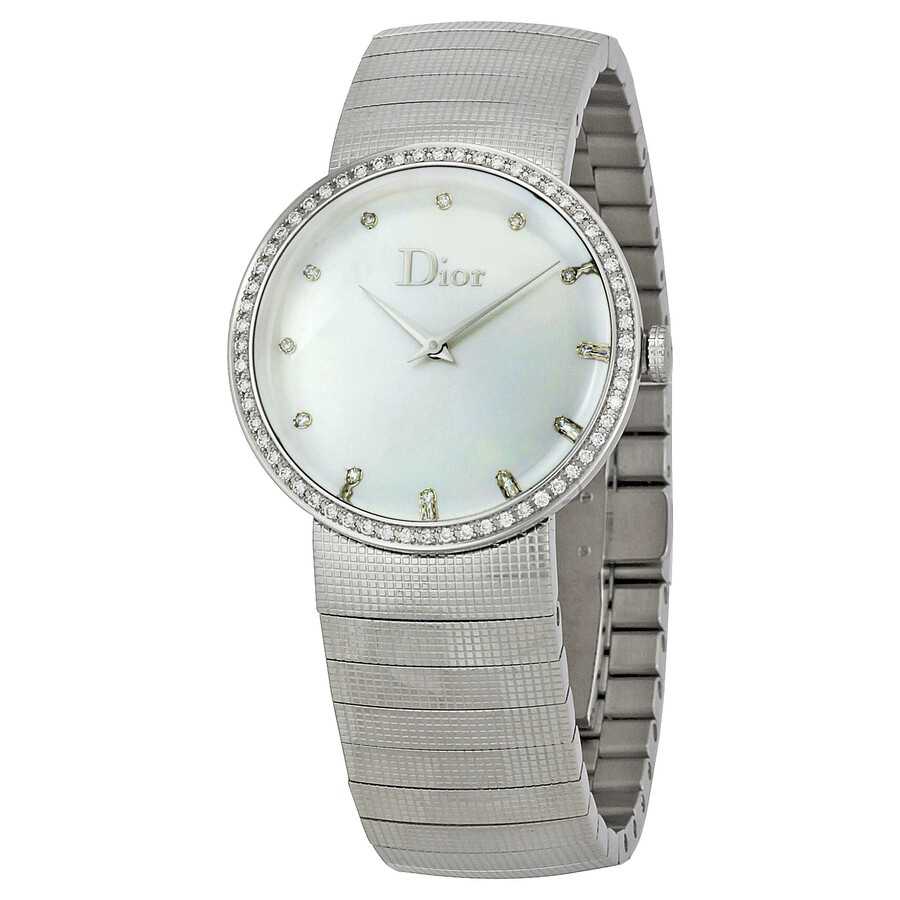 Dior baby d diamond ladies watch cd042111m002 dior watches jomashop for Woman diamond watches