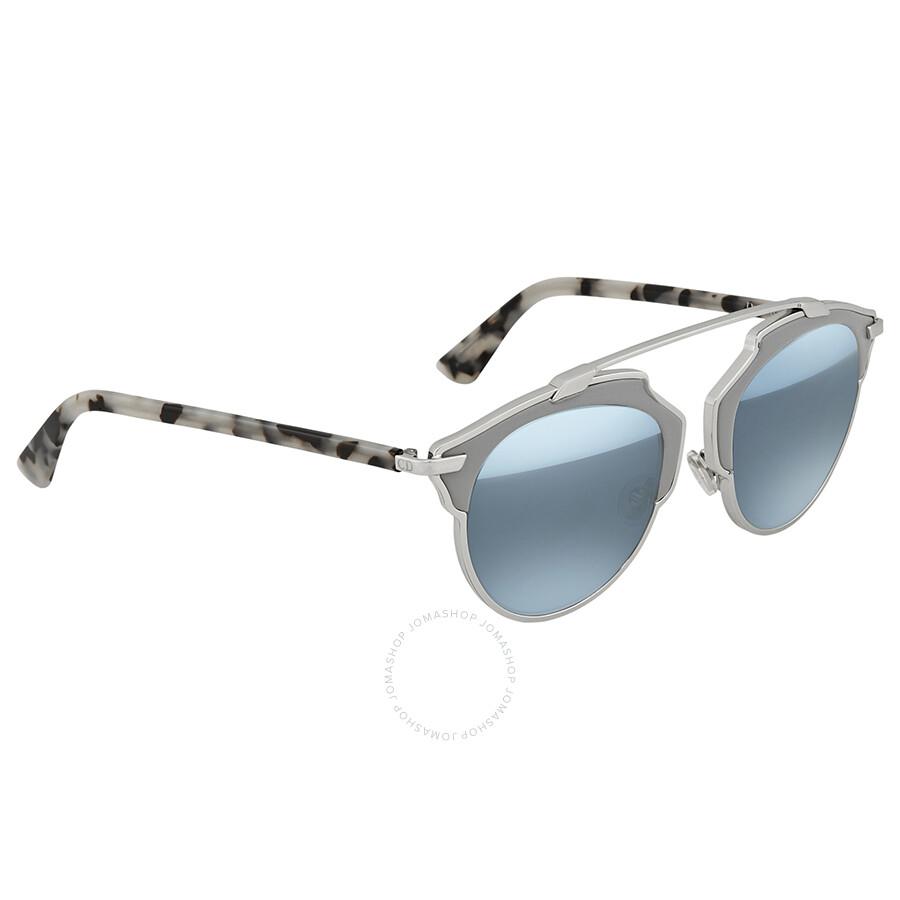 89885dbd625d Dior Blue Round Sunglasses CD SOREAL P7Q - Dior - Sunglasses - Jomashop