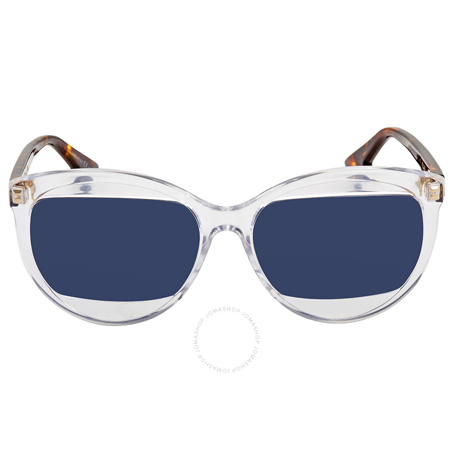 61a83db1fa Dior Blue Round Sunglasses DIOR MANIA 2 S 0T6V - Dior - Sunglasses ...