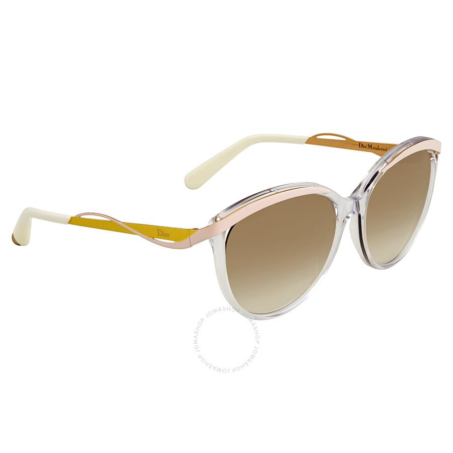 c1995fd5e9c1 Dior Brown Gradient Cat Eye Sunglasses DIOR METALEYES 1 S 06OB ...