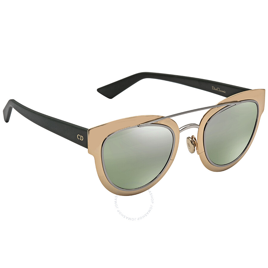 4916ef713baae Dior Chromic Green Mirror Cat Eye Ladies Sunglasses DIORCHROMIC 0LMM 47 ...