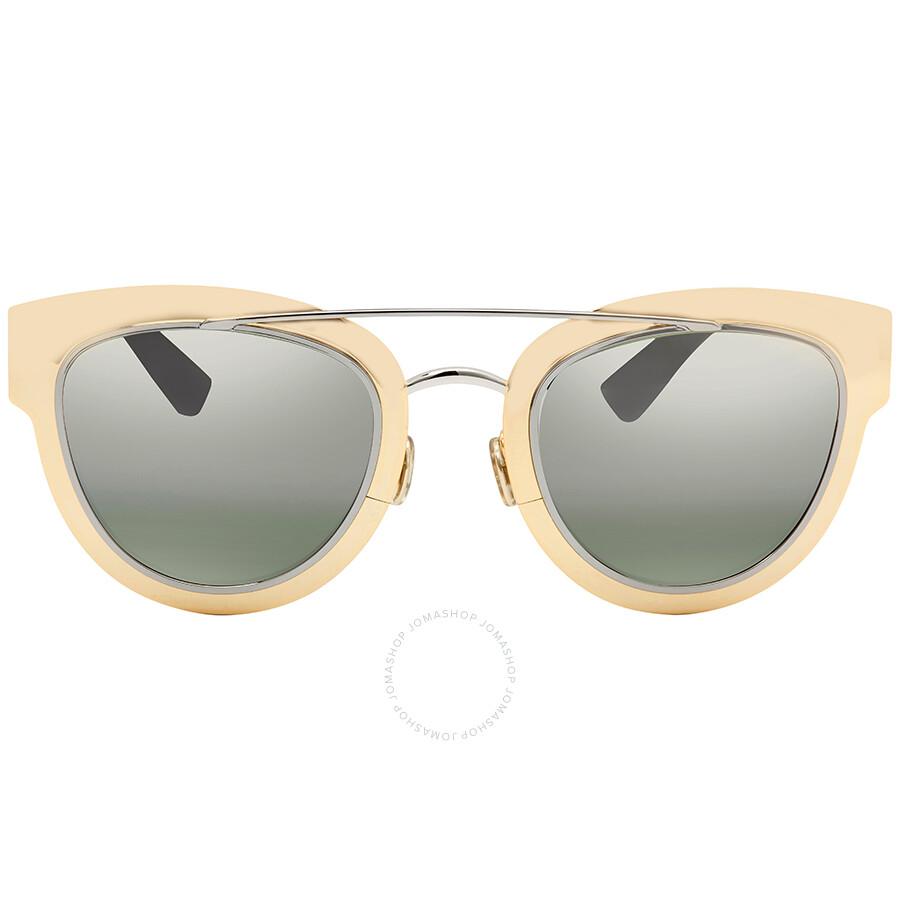 46ce2efaf6f01 ... Dior Chromic Green Mirror Cat Eye Ladies Sunglasses DIORCHROMIC 0LMM 47  ...