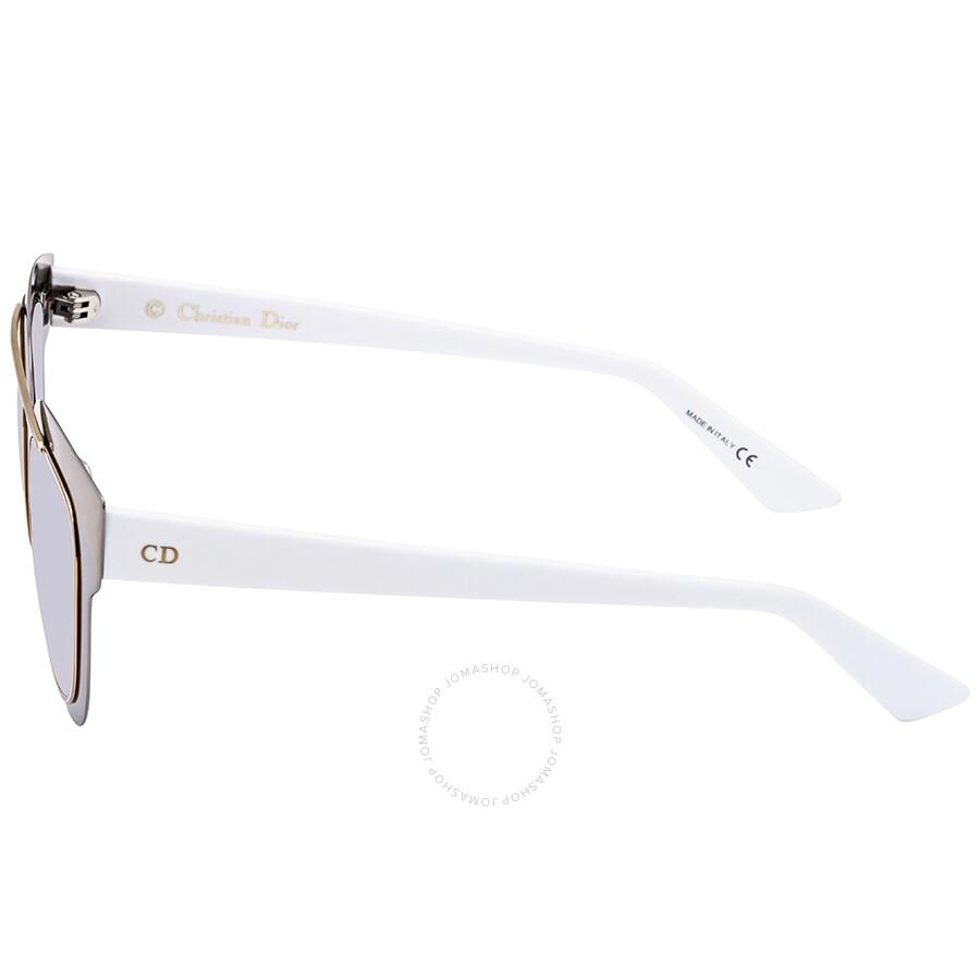 c64197e90c ... Dior Chromic Light Grey Silver Mirror Cat Eye Ladies Sunglasses  DIORCHROMIC LMJ 96 47