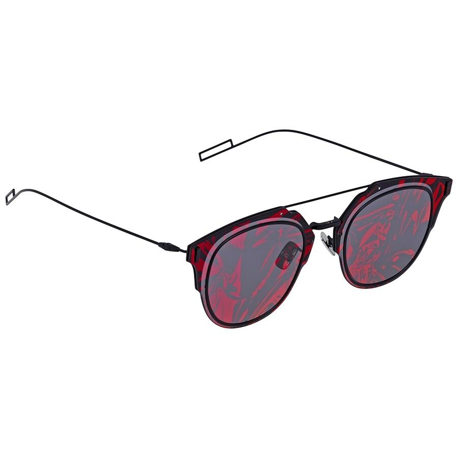 71e375a3b2 Dior Composit Grey with Violet Flash MIrror Pattern Round Unisex Sunglasses  DIORCOMPOSIT1.0 003  ...
