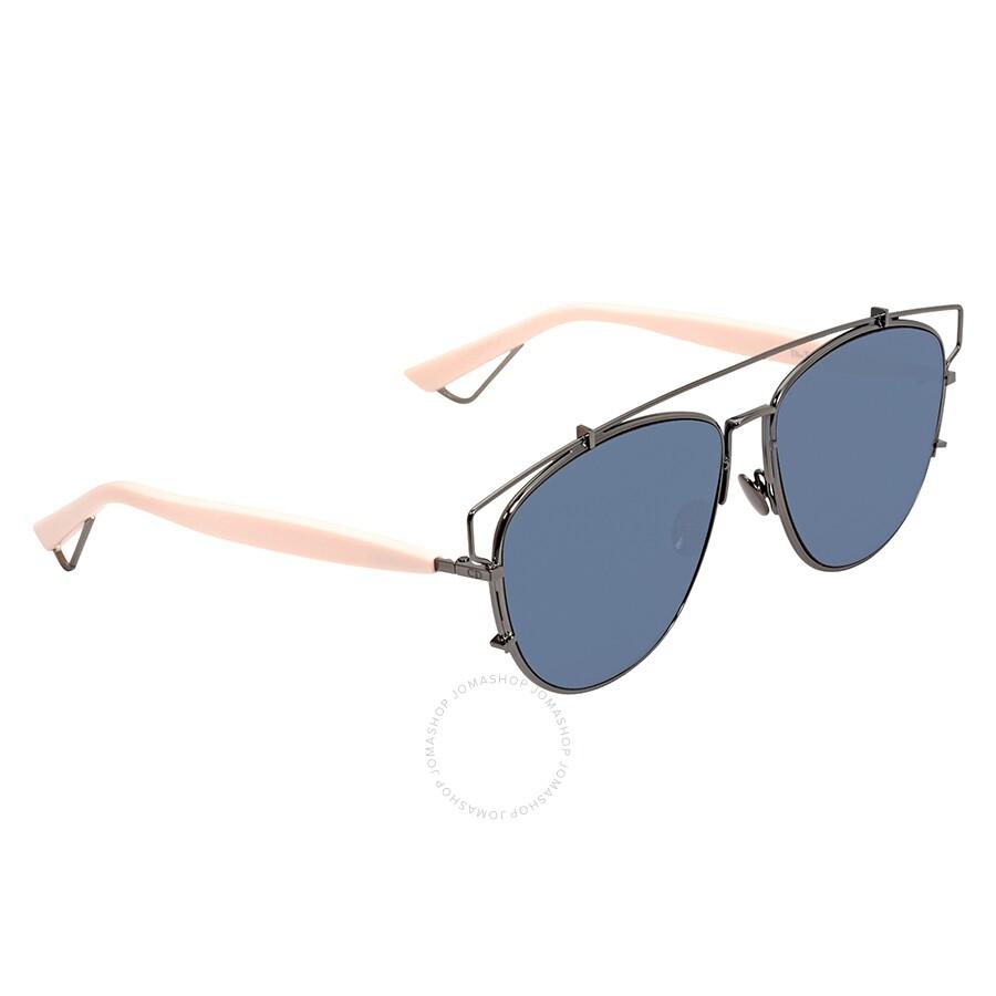 a1ca4622fefc Dior Dark Blue Geometric Ladies Sunglasses DIORTECHNOLOGIC 1UR/A9 57 ...
