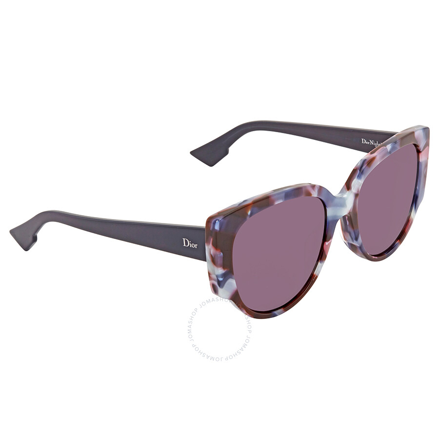 711fa71ab2a1c Dior Dark Purple Round Sunglasses DIOR NIGHT 1 S 0RJA Item No. DIOR NIGHT 1 S  0RJA