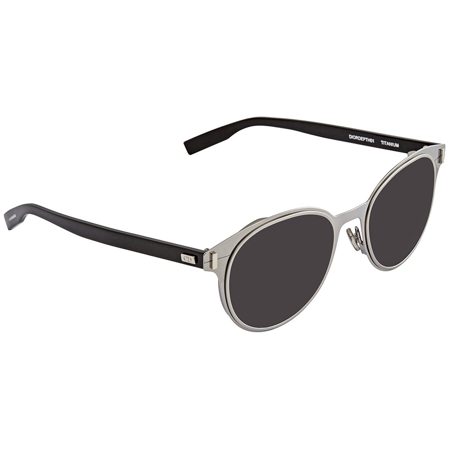 23a17ea50a Dior Depth Dark Grey Round Men s Sunglasses DIORDEPTH01 TCP Y1 52 ...