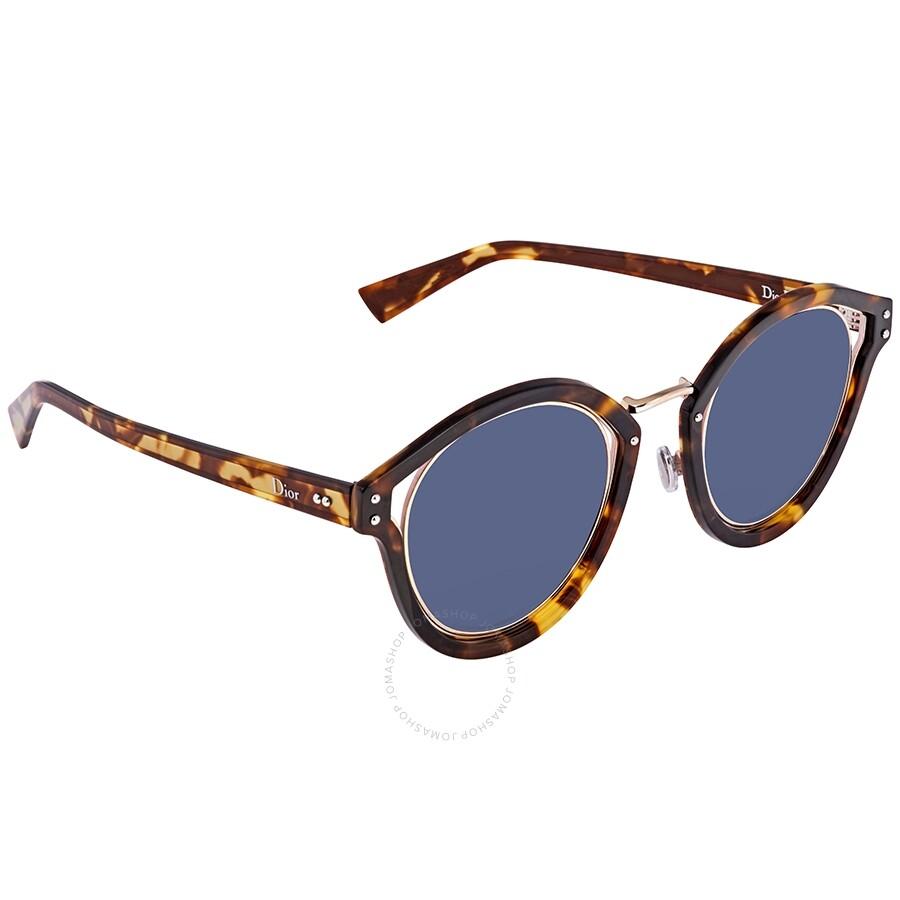 94b21ce73a Dior Elliptic Blue Round Ladies Sunglasses DIORELLIPTIC TZ8 KU 48 ...