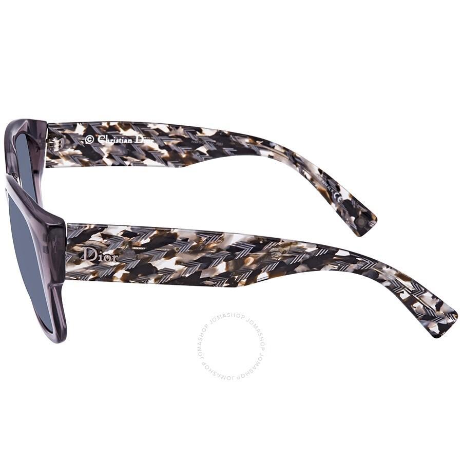 f2d5e7fd4a ... Dior Flanellef Grey Gradient Rectangular Ladies Sunglasses  DIORFLANELLEF 20Y 56