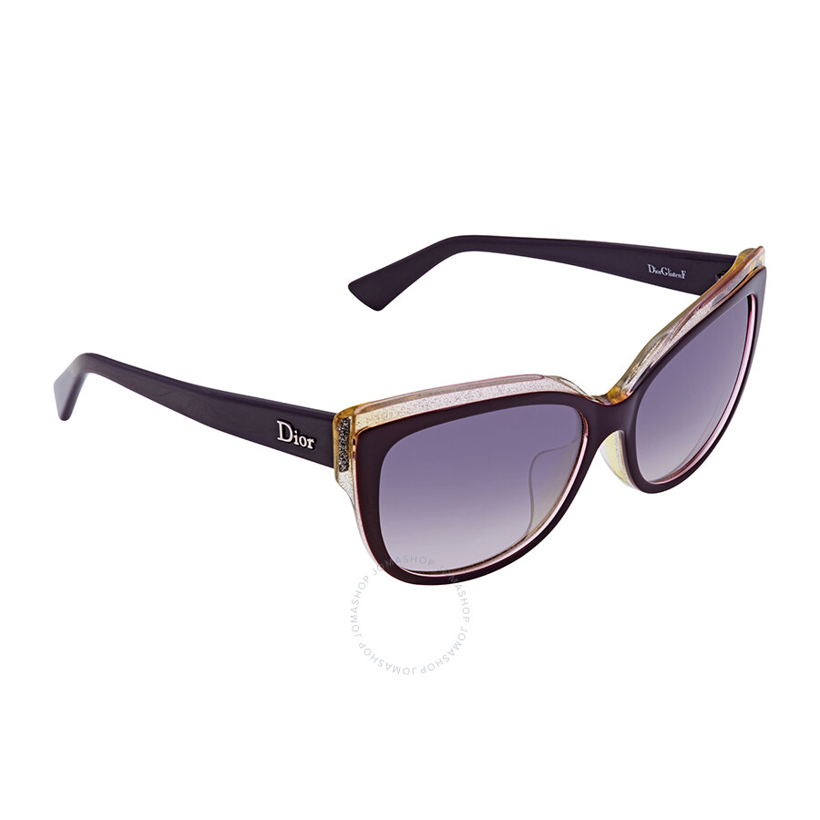 Dior Glisten Blue Gradient Cat Eye Ladies Sunglasses DIORGLISTENF ELU 58