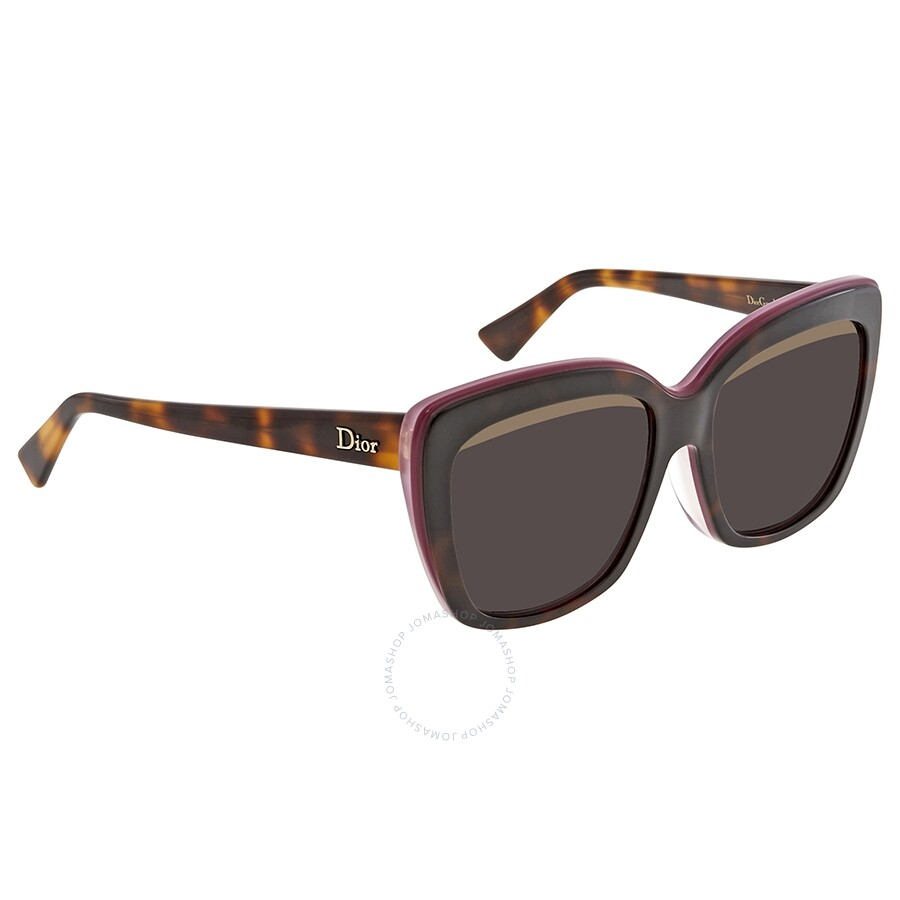 e6f9c0c881 Dior Graphic Grey Smoke Rectangular Ladies Sunglasses DIORGRAPHICF 3C4575S  57 ...