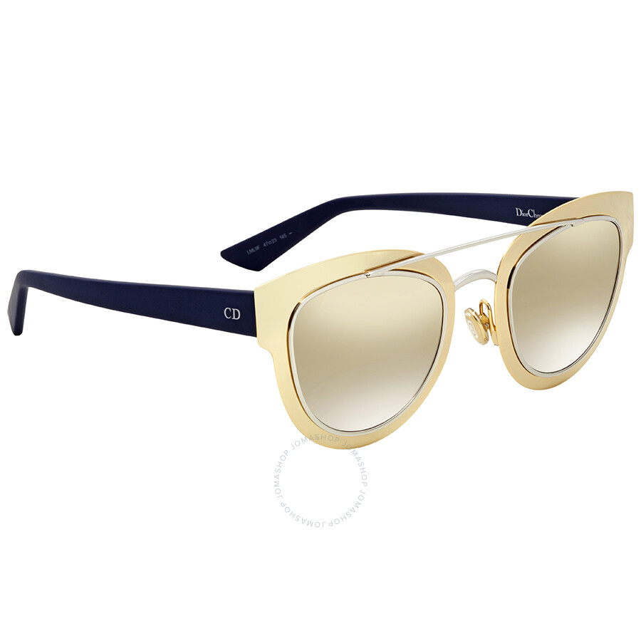 2232cbaee9 Dior Grey Gold Mirror Cat Eye Sunglasses CD Chromic LML 9F 47 - Dior ...