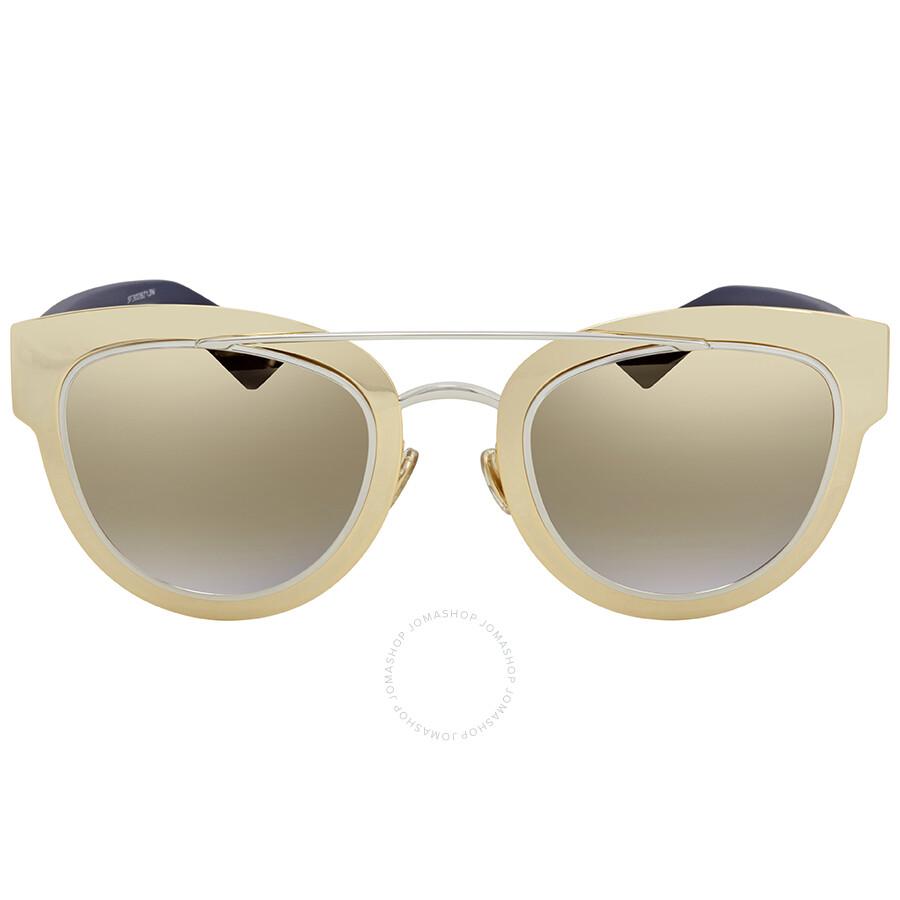 6b89b43af3e2 Dior Grey Gold Mirror Cat Eye Sunglasses CD Chromic LML/9F 47 - Dior ...