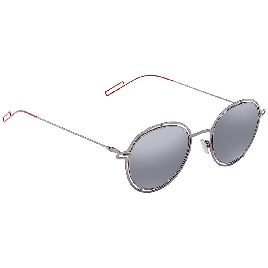 Dior Grey Silver Round Men's Sunglasses Dior0210 S Kj1/T4 49 by Dior