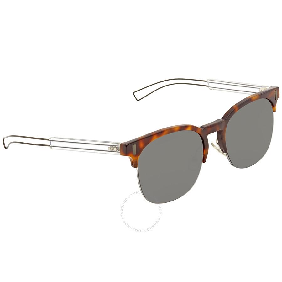 ceaf778eca3e Dior Homme Black Mirror Square Sunglasses BLACK TIE 207 S 0CJ5 ...