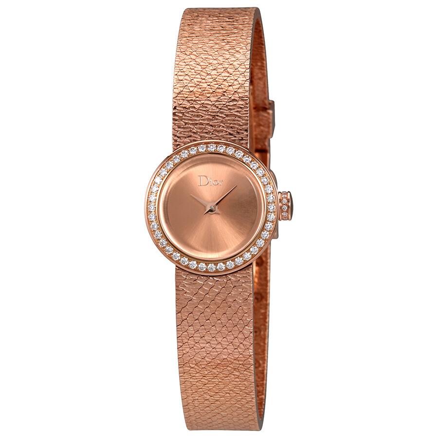 Dior La Mini De Dior Pink Gold Diamond Ladies Watch Cd040170m001