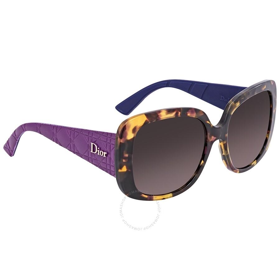 77d686b953 Dior Lady Blue Gradient Rectangular Ladies Sunglasses LADYL1RS 0GRV 56 ...