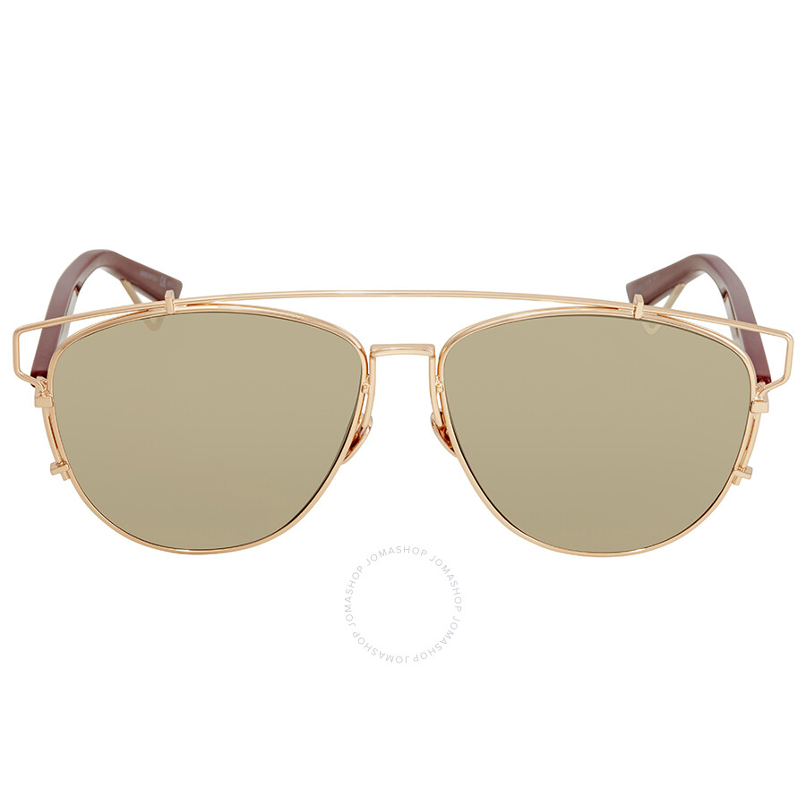 2de31daab375 Dior Light Gold Mirror Round Sunglasses DIOR TECHNOLOGIC 0D2X - Dior ...