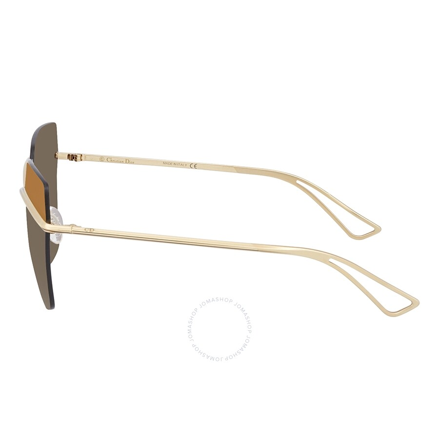8edace7617eae ... Dior Metallic Brown Mirror Gradient Rectangular Ladies Sunglasses  DIORMETALLIC 000 63