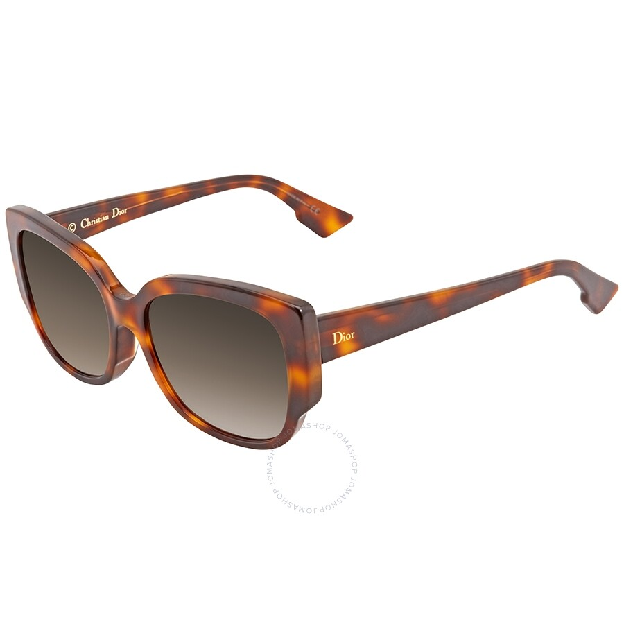 5a983a8db445 Dior Night Grey Gradient Rectangular Ladies Sunglasses Item No. DIORNIGHTF  05L57HA 55