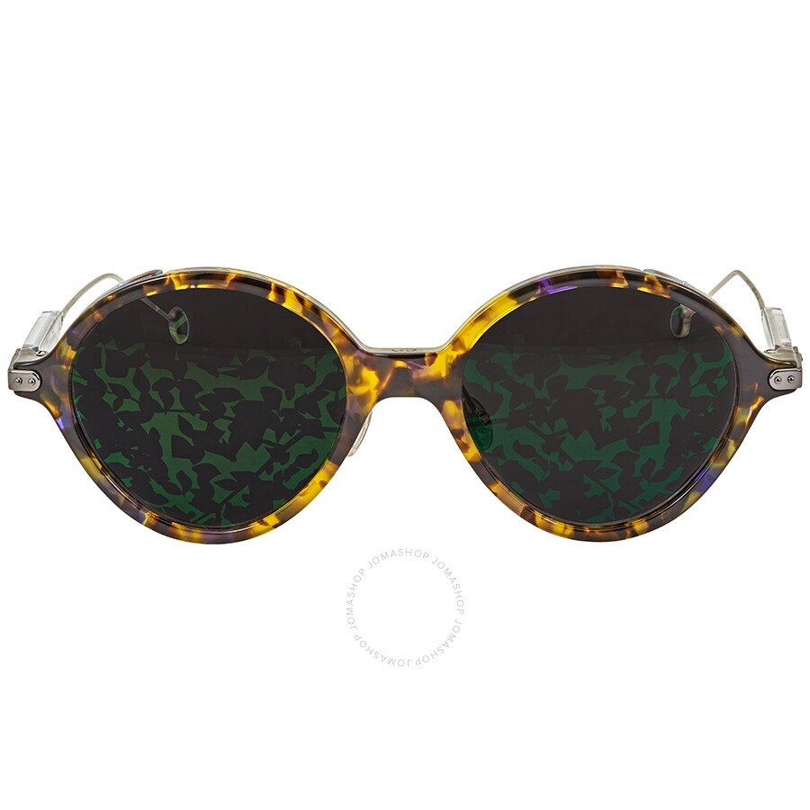 67fb74a2be0f ... Dior Rumbrage Grey, Green Mirror Leaf Oval Ladies Sunglasses  DIORUMBRAGE 0X8/TW 52 ...