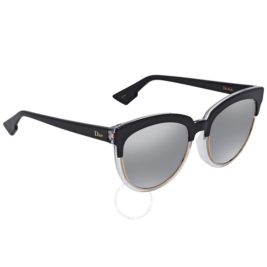 5d859c3f101d Dior Sight Light Grey Gradient Cat Eye Ladies Sunglasses DIORSIGHT1F K4X/96  56 ...