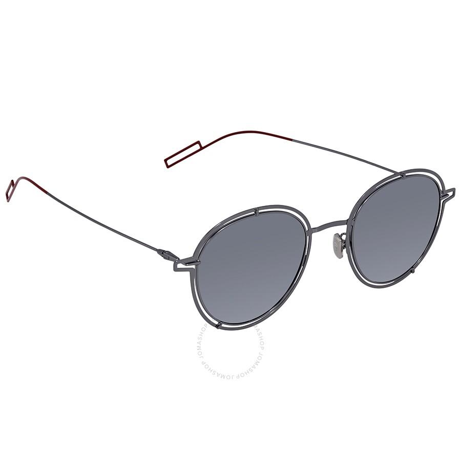 faf3788a8 Dior Silver Mirror Round Men's Sunglasses DIOR0210FS 0KJ1 51 Item No.  DIOR0210FS 0KJ1 51