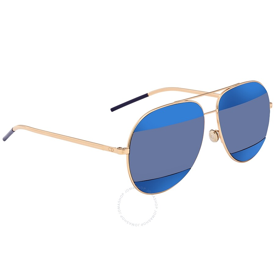 222d38b808ecd Dior Split Blue Mirror Aviator Unisex Sunglasses DIORSPLIT2 000 KU 59 ...