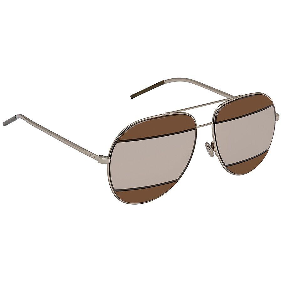 cff4a3d3aa9 Dior Split Brown Grey Aviator Unisex Sunglasses Item No. DIORSPLIT2 010 6J  59