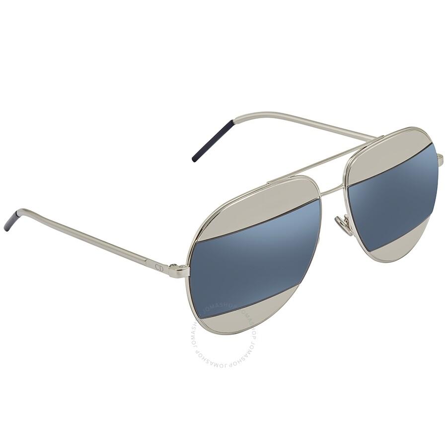 07bc7c111522 Dior Split Palladium Grey, Blue Mirror Aviator Unisex Sunglasses DIORSPLIT1  010/KU 59 Item No. DIORSPLIT1 010/KU 59