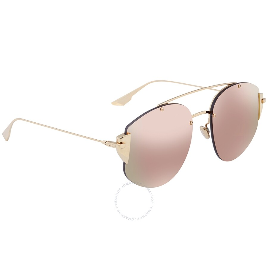 Dior Stronger Blue And Rose Gold Mirror Aviator Ladies Sunglasses Dior Stronger J5g 0j 58 Dior Stronger J5g 0j 58 Sunglasses Dior Jomashop