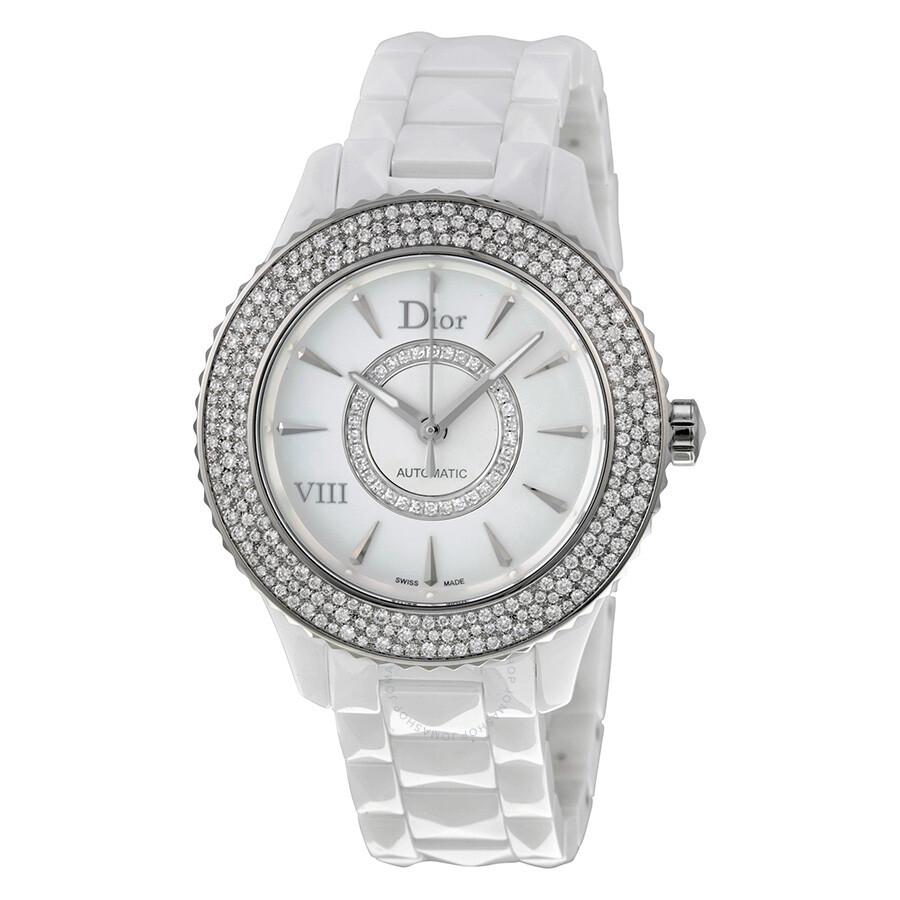 Dior Watches Jomashop Jam Tangan Alba 38mm Black Viii Diamond Studded Automatic Ladies Watch