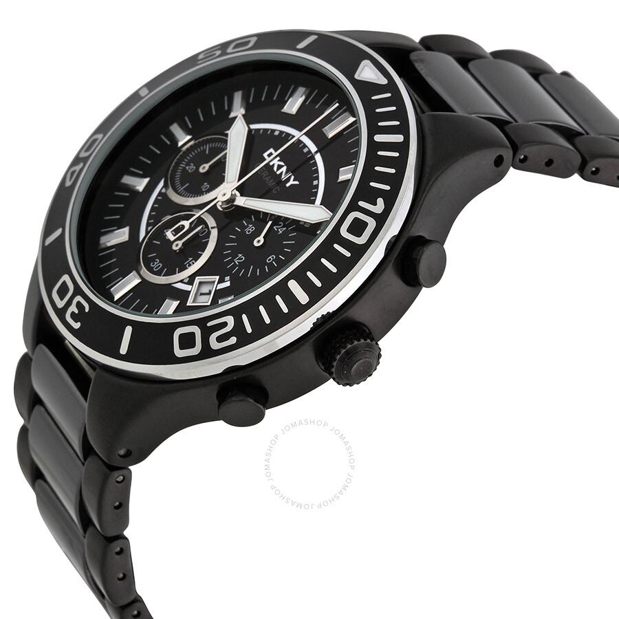 1d01697a9 DKNY Black Chronograph Dial Ceramic Men's Watch NY1490 - DKNY ...