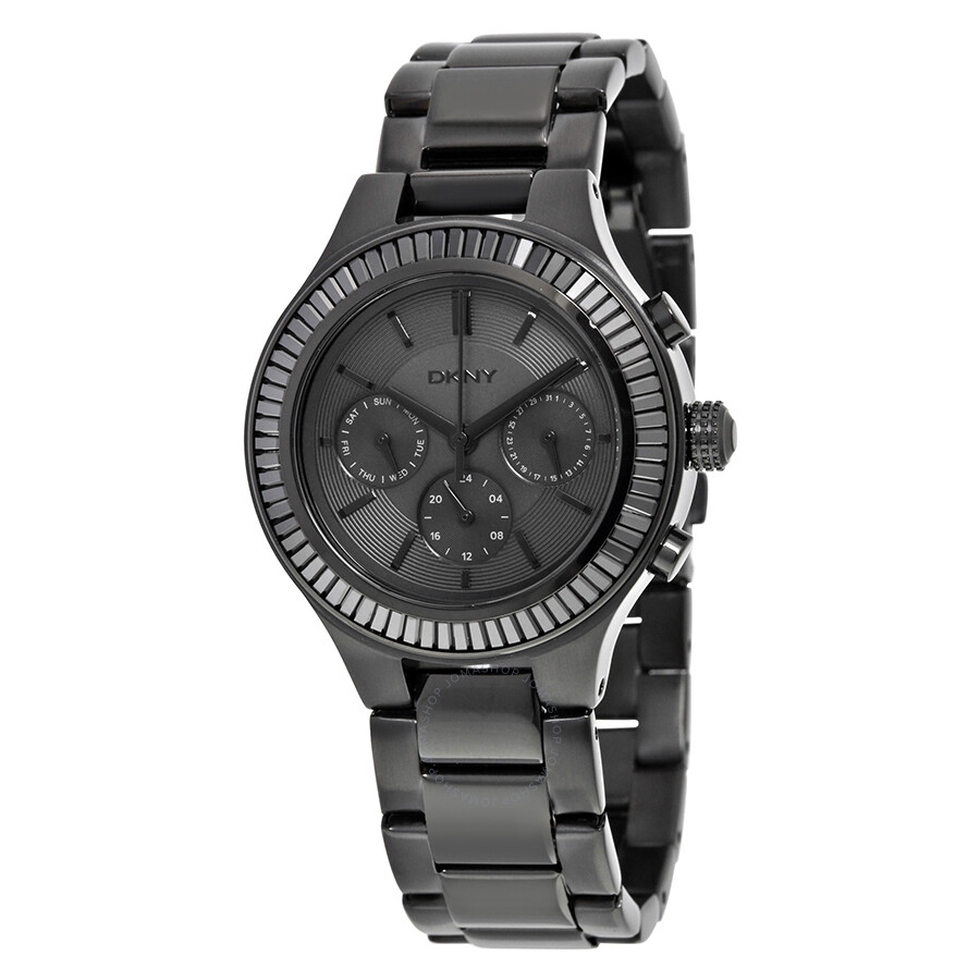 Dkny chambers multi channel black dial ladies watch ny2397 dkny watches jomashop for Dkny watches