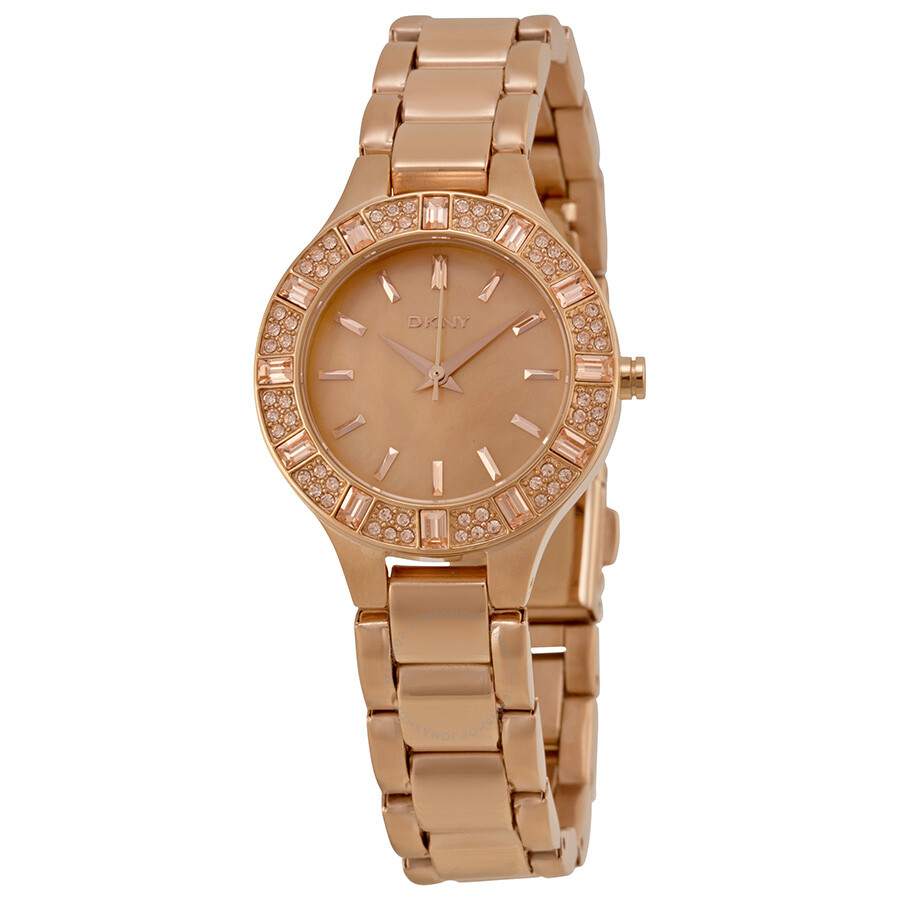 Dkny chambers rose dial rose gold tone ladies watch ny8486 dkny watches jomashop for Dkny watches