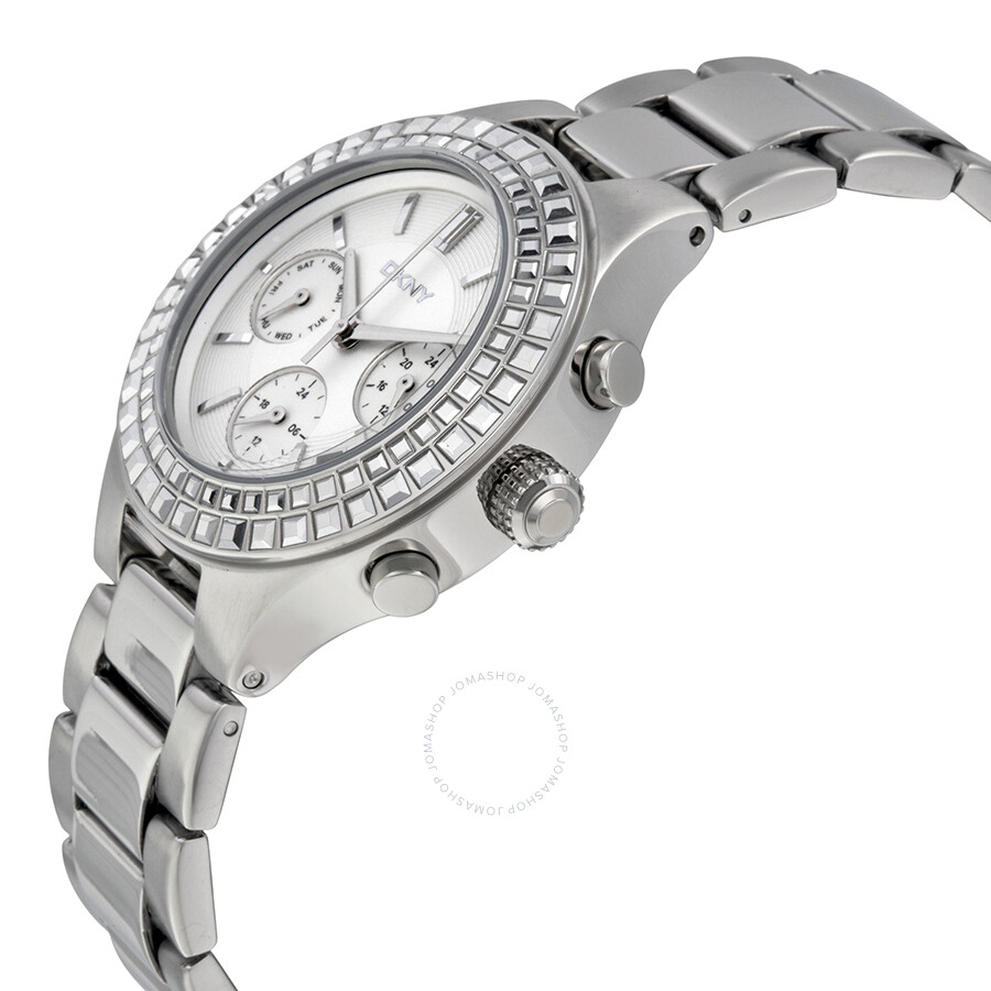 Dkny chambers silver dial stainless steel ladies watch ny2258 dkny watches jomashop for Dkny watches