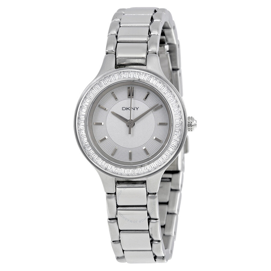 Dkny chambers silver dial stainless steel ladies watch ny2391 dkny watches jomashop for Dkny watches